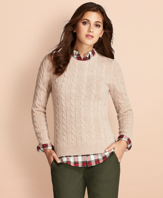 Cable-Knit Cashmere Sweater - Brooks Brothers