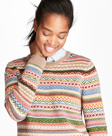 Merino Wool-Blend Fair Isle Sweater