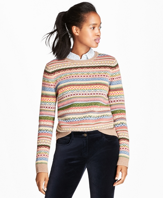 Merino Wool-Blend Fair Isle Sweater - Brooks Brothers