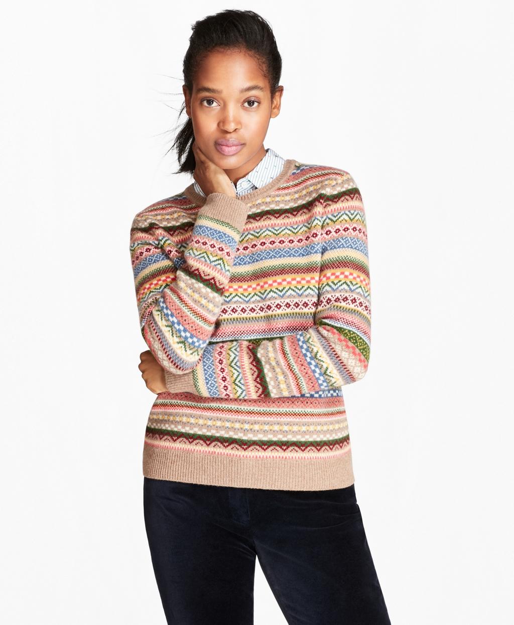 Merino Wool-Blend Fair Isle Sweater - Brooks Brothers