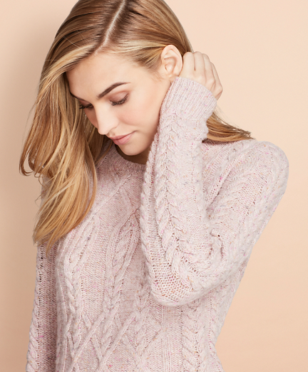 Cable-Knit Alpaca-Wool-Blend Sweater