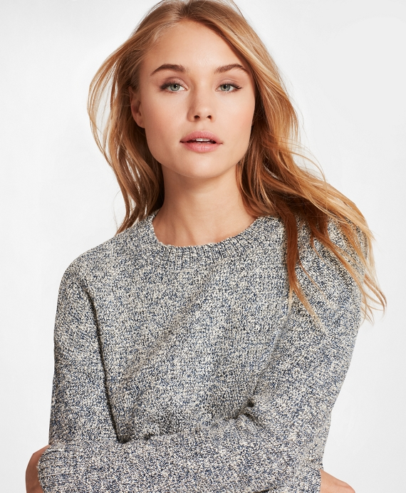 Shimmer Boucle Sweater Navy
