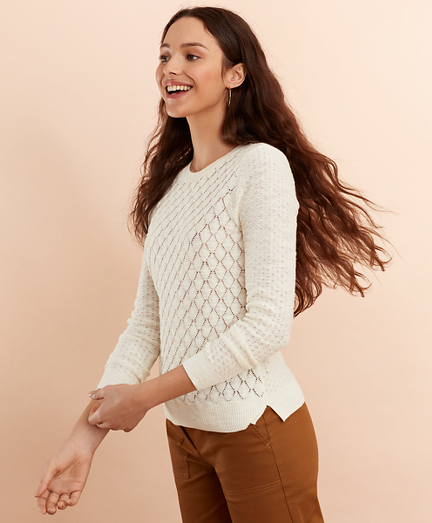 Diamond Pointelle Sweater