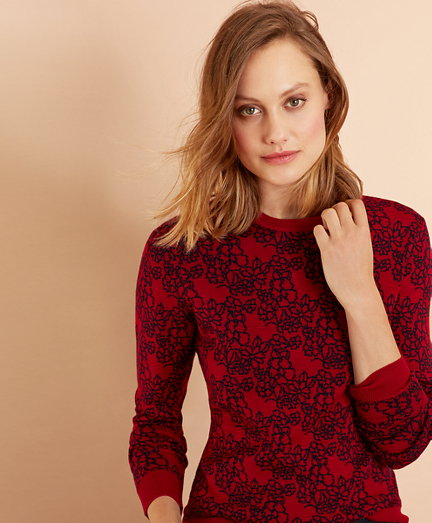 Floral Merino Wool Sweater