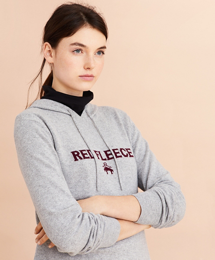 Wool-Cashmere-Blend Logo Hoodie Sweater