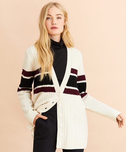 Stretch Merino Wool Boyfriend Cardigan