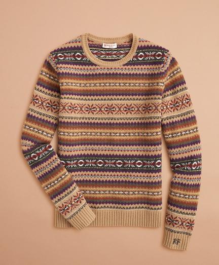 Stretch-Merino Wool Fair Isle Sweater