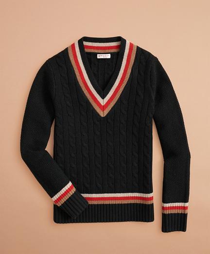 Stretch Merino Wool Tennis Sweater