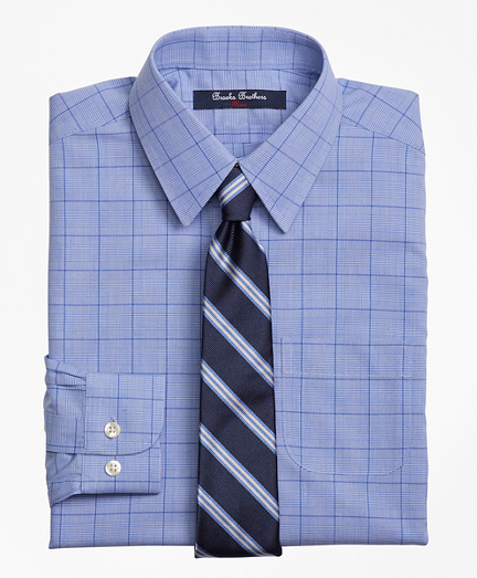 Non-Iron Supima® Cotton Broadcloth Plaid Dress Shirt