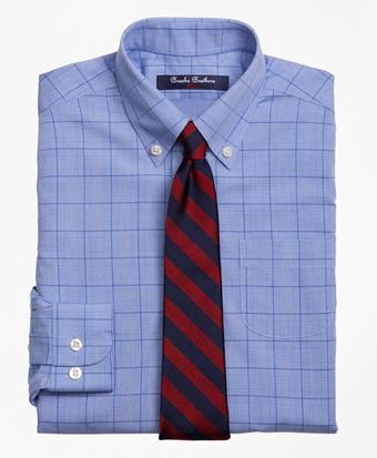 Non-Iron Supima® Cotton Broadcloth Plaid Dress Shirt