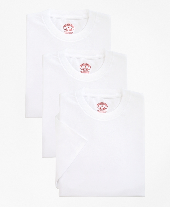 Cotton Crewneck Undershirt - Three Pack White