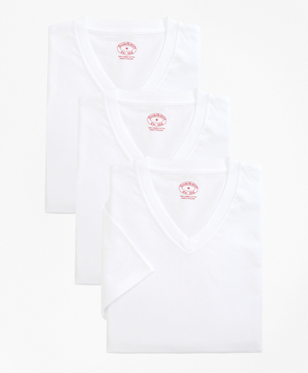 Cotton V-Neck Undershirt - Three Pack