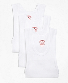 Cotton Athletic Tank Undershirt - Three Pack