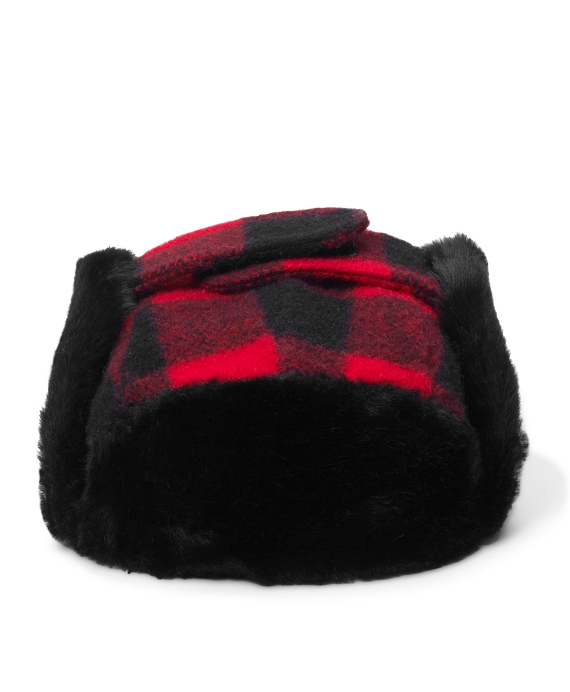 Buffalo Check Trapper Hat Red