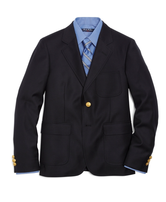 Two-Button Prep Blazer Navy