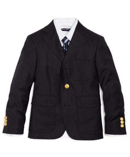 Three-Button Prep Blazer