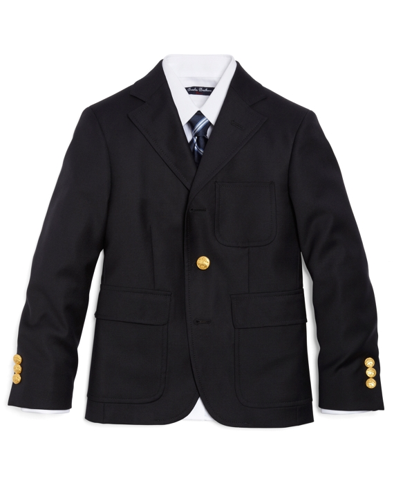 Three-Button Junior Blazer Navy