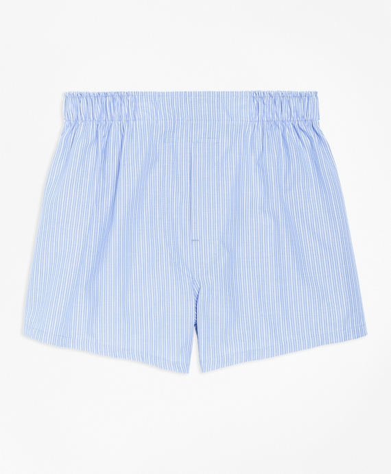 Pencil Stripe Boxers Blue