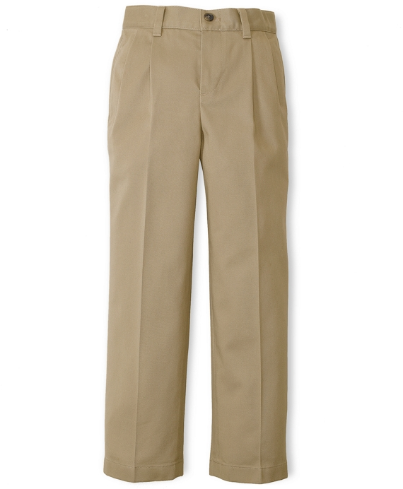 Pleat-Front Non-Iron Chinos British Khaki