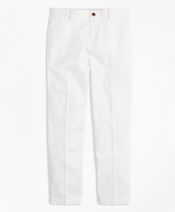 Plain-Front Non-Iron Chinos White