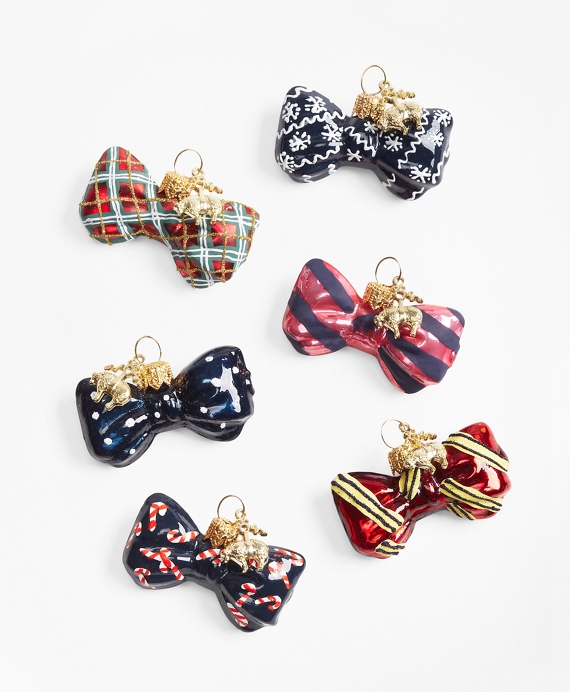 Bow Tie Ornament Set