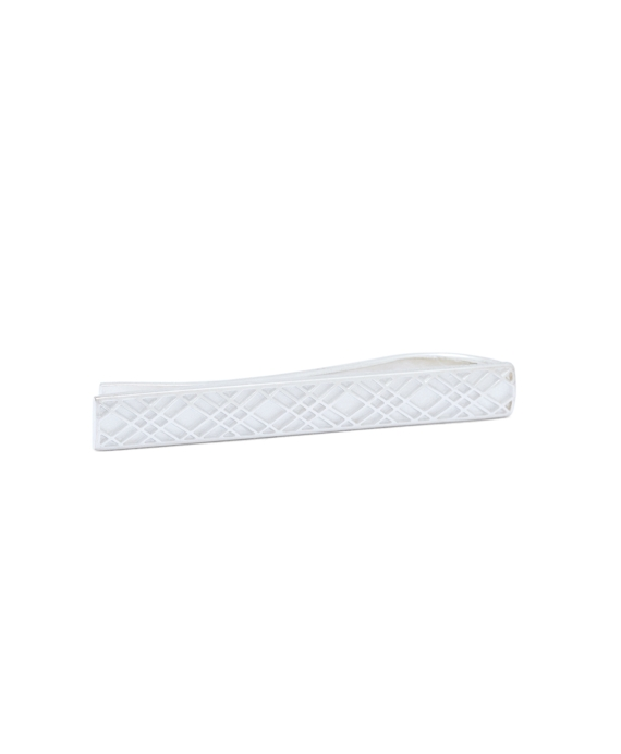 Sterling Silver Crisscross Tie Bar Silver