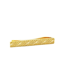 Gold-Plated Crisscross Tie Bar