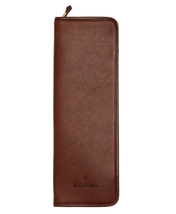 Leather Tie Case Brown