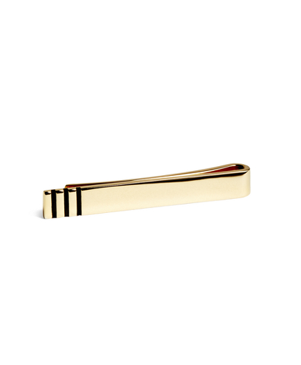 Navy Stripes Tie Bar
