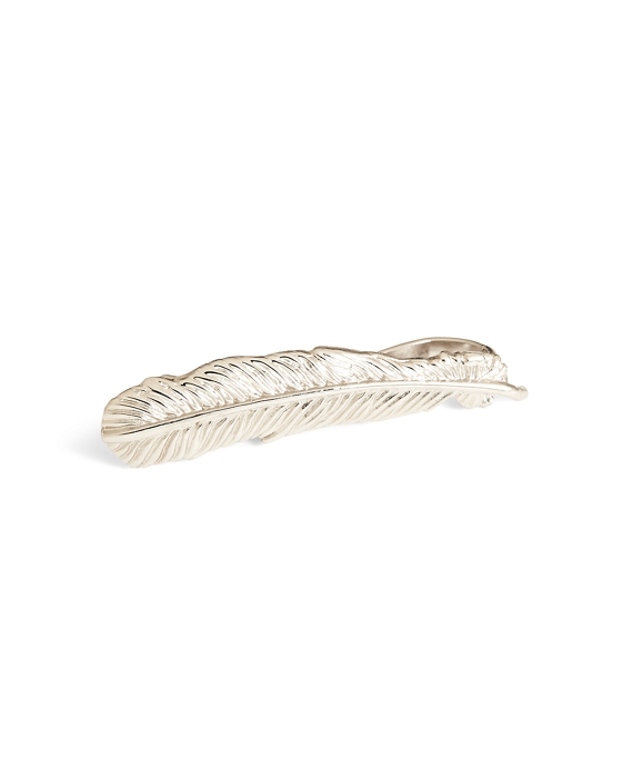Feather Tie Bar Silver