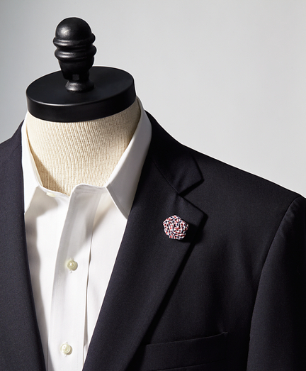 Gingham Lapel Flower