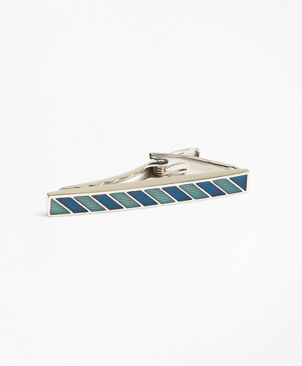 Argyle and Sutherland Stripe Enamel Tie Bar