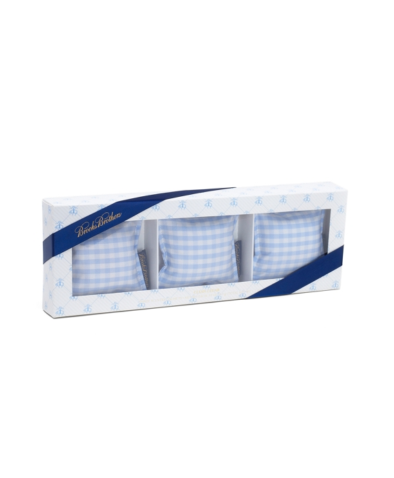 Gingham Cedar Sachet Pillows Blue-White