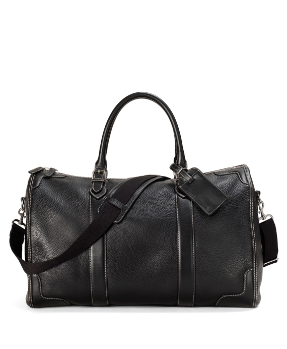 Pebble Leather Duffle Black