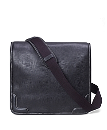 Pebble Leather Messenger