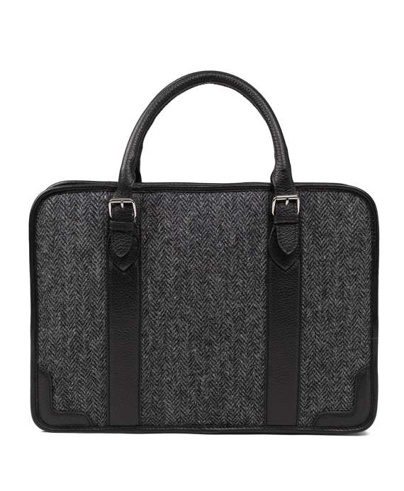 Tweed Briefcase Black