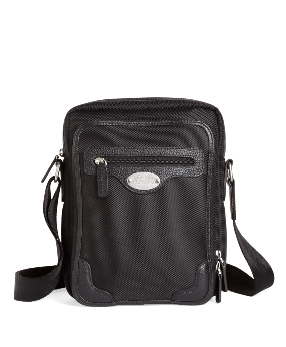 Nylon Top Zip Messenger Black