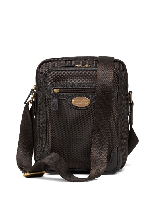 Nylon Top Zip Messenger Brown