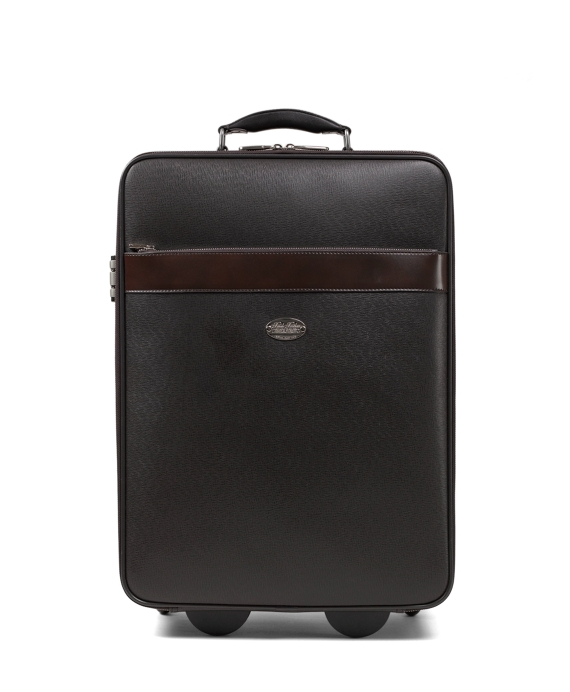 Small Leather Trolley Brown
