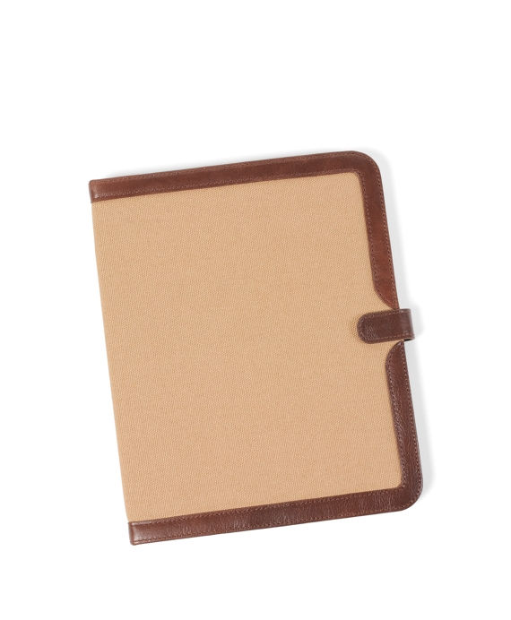 Washed Canvas and Leather iPad Case Khaki