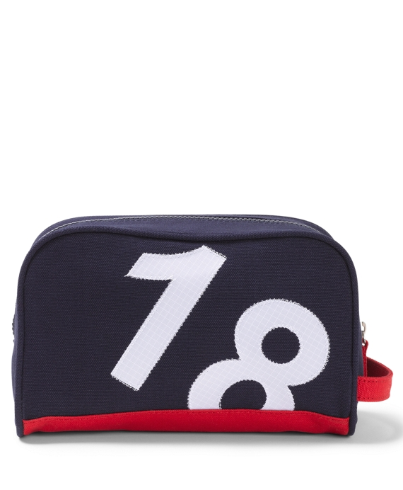 Sail Cloth Dopp Kit Navy Multi