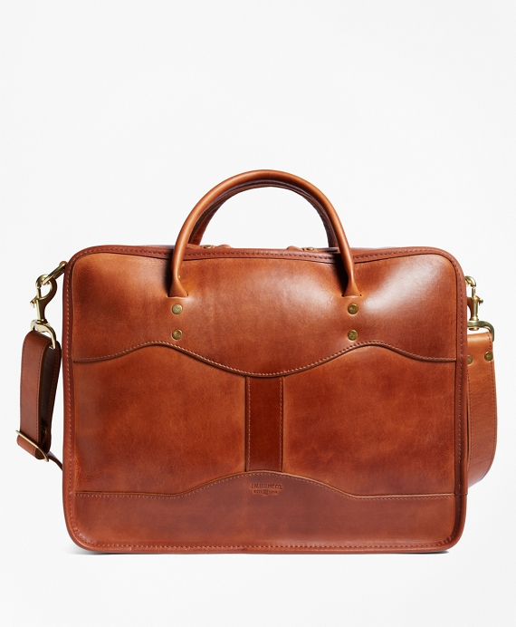 J.W. Hulme Leather Overnight BriefcaseŸ Saddle