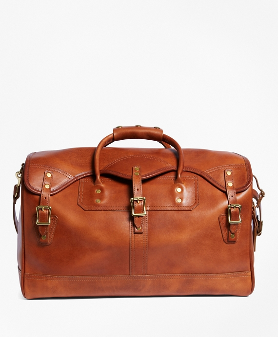 J.W. Hulme Leather Small Duffel Bag Saddle