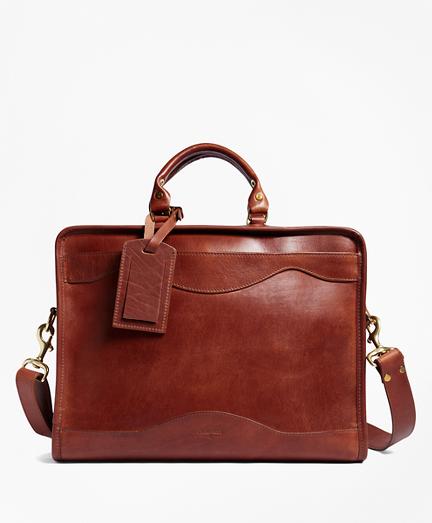 J.W. Hulme Leather Slim Portfolio Briefcase