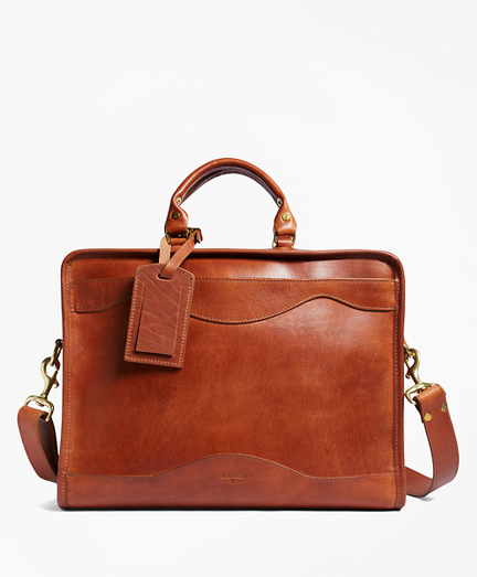 J.W. Hulme Leather Slim Portfolio Briefcase