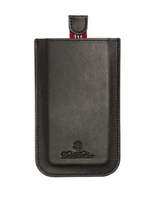 Repp Stripe Calfskin iPhone Case Black