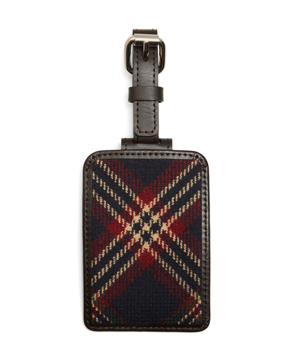 Brooks Brothers Tartan Luggage Tag Navy Multi
