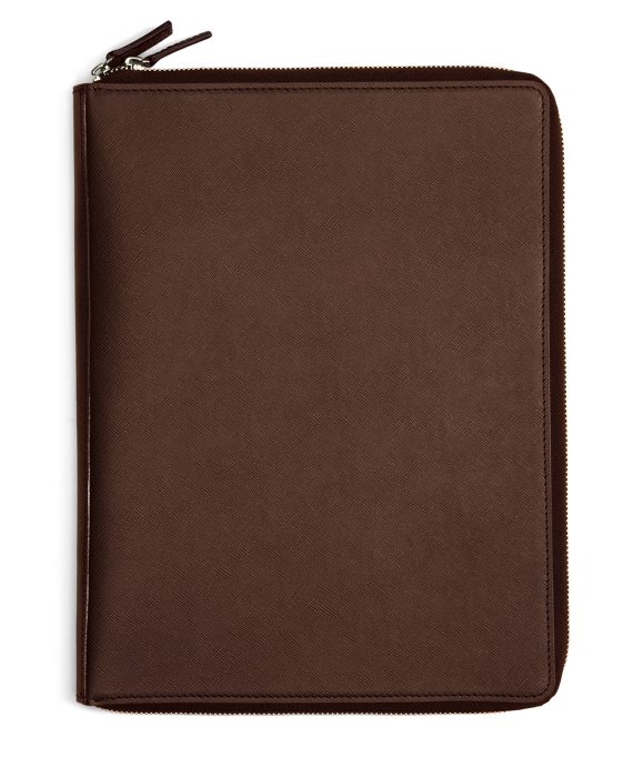 Saffiano Leather Document Case Brown