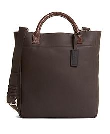 Harrys Of London® Alligator Trim Shoulder Strap Tote Bag