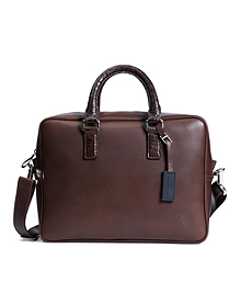 Harrys Of London® Alligator Trim Briefcase